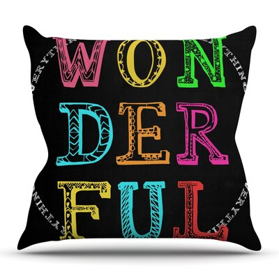 Wonderful by Skye Zambrana Outdoor Throw Pillow