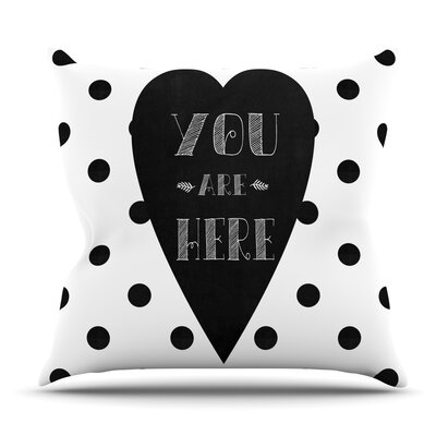You Are Here by Skye Zambrana Outdoor Throw Pillow
