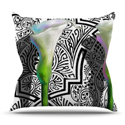 Three Lily by S. Seema Z Outdoor Throw Pillow