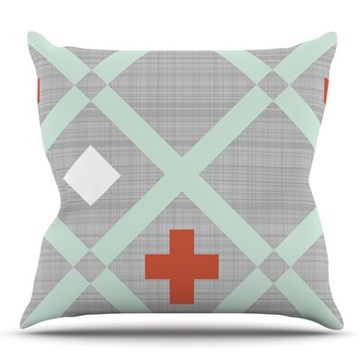 Lattice Weave by Pellerina Design Outdoor Throw Pillow