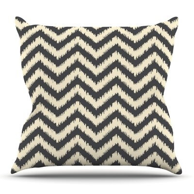 Moonrise Chevron ikat by Amanda Lane Outdoor Throw Pillow