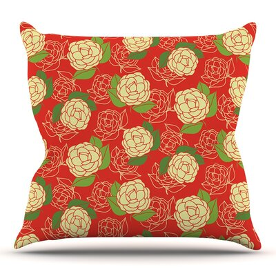Cammelia by Holly Helgeson Outdoor Throw Pillow