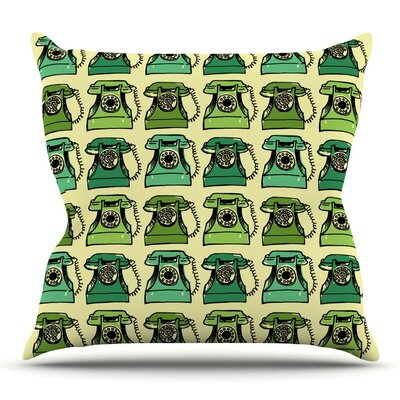 Grandmas Telephone by Holly Helgeson Outdoor Throw Pillow