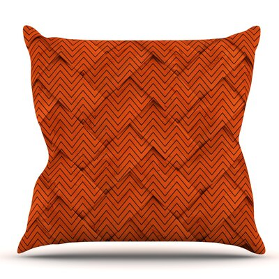 Chevron Weave Outdoor Throw Pillow