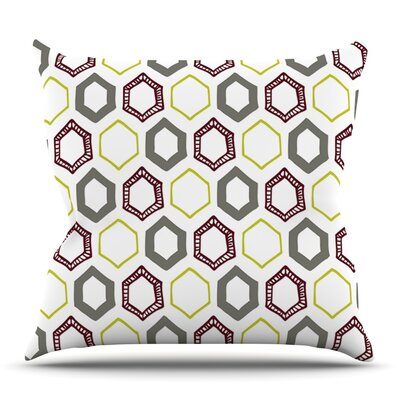 Hexy Small by Laurie Baars Outdoor Throw Pillow
