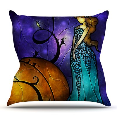 Cinderella by Mandie Manzano Outdoor Throw Pillow