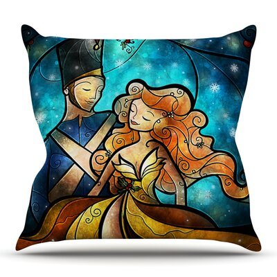 Nutcracker by Mandie Manzano Outdoor Throw Pillow