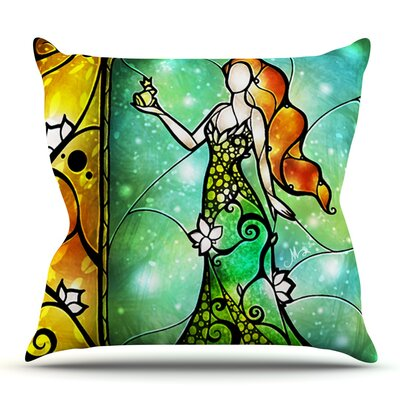 Fairy Tale Frog Prince by Mandie Manzano Outdoor Throw Pillow