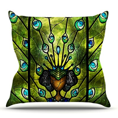 Angel Eyes by Mandie Manzano Outdoor Throw Pillow