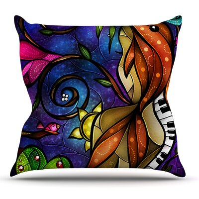 Tell Me Stories by Mandie Manzano Outdoor Throw Pillow