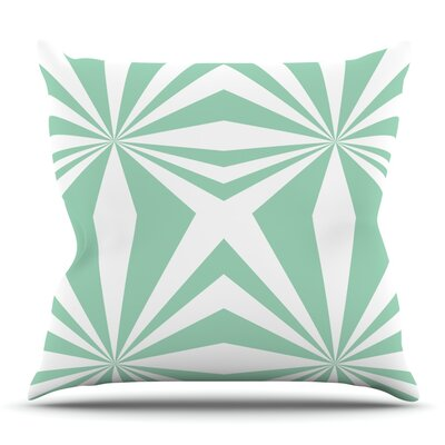 Starburst Mint by Project M Outdoor Throw Pillow
