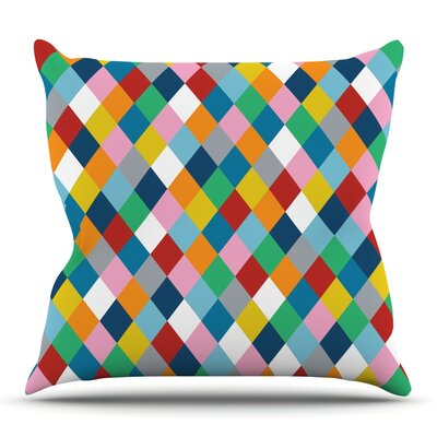 Harlequin Zoom by Project M Outdoor Throw Pillow