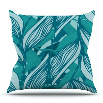 Algae by Anchobee Outdoor Throw Pillow