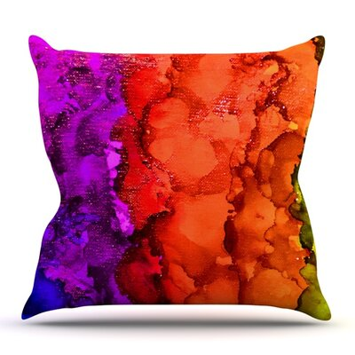 Rainbow Splatter by Claire Day Outdoor Throw Pillow