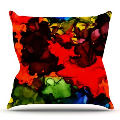 Beach Bum by Claire Day Outdoor Throw Pillow