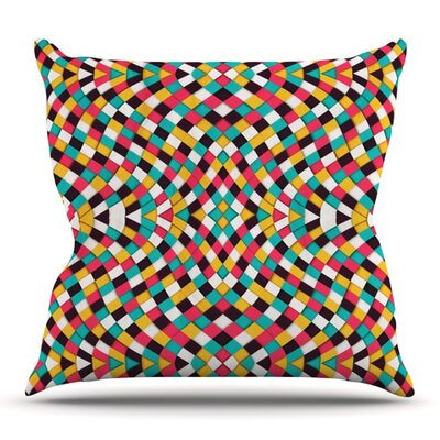 Retro Grade by Danny Ivan Outdoor Throw Pillow