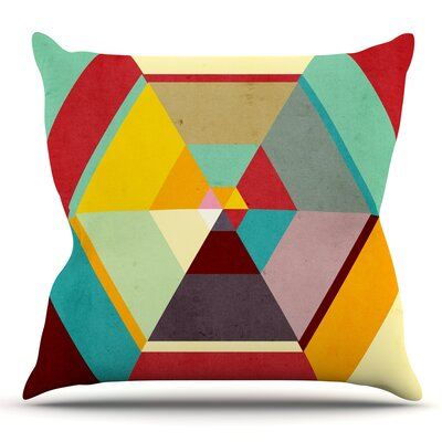 Color Mess by Danny Ivan Outdoor Throw Pillow