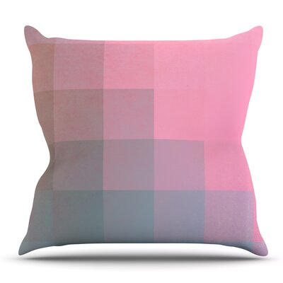Girly Pixel Surface by Danny Ivan Outdoor Throw Pillow