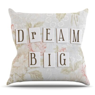 Dream Big by Debbra Obertanec Outdoor Throw Pillow