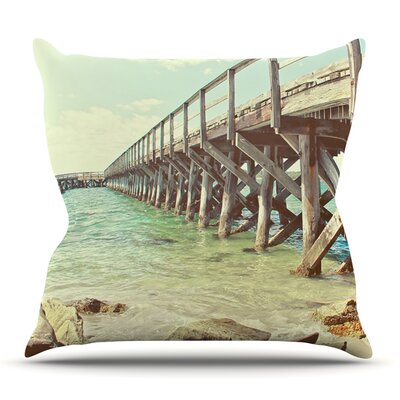 On The Pier by Debbra Obertanec Outdoor Throw Pillow
