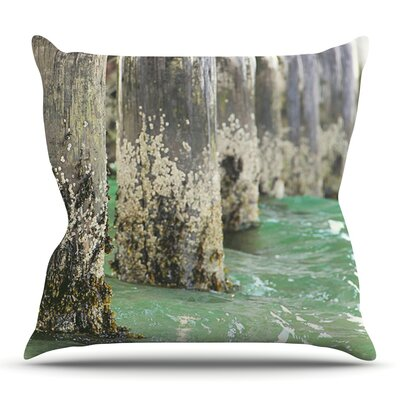 Saltwater Pylons by Debbra Obertanec Outdoor Throw Pillow