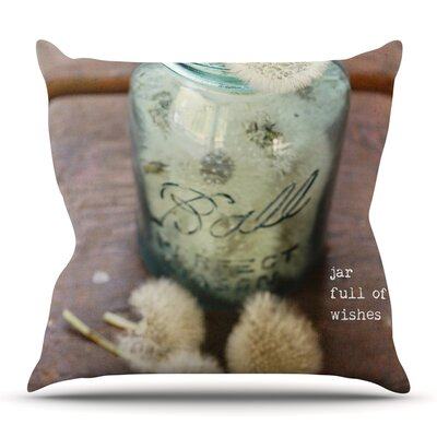 Jar of Wishes by Debbra Obertanec Outdoor Throw Pillow
