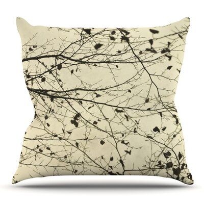 Boughs Neutral by Iris Lehnhardt Outdoor Throw Pillow
