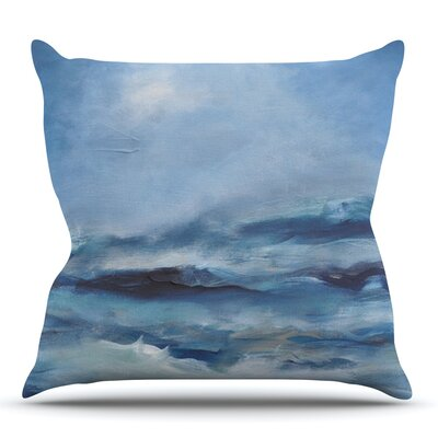 Rough Sea by Iris Lehnhardt Outdoor Throw Pillow
