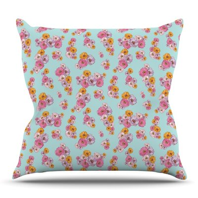 Paper Flower by Laura Escalante Outdoor Throw Pillow