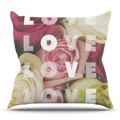 Love Love Love by Libertad Leal Outdoor Throw Pillow