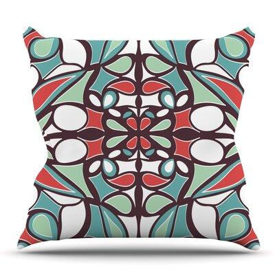 Round Tiles by Miranda Mol Outdoor Throw Pillow