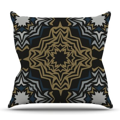 Golden Fractals by Miranda Mol Outdoor Throw Pillow
