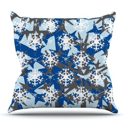 Ice Topography by Miranda Mol Outdoor Throw Pillow