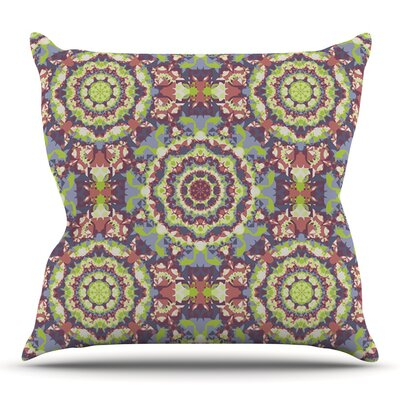 Plum Lace by Allison Soupcoff Outdoor Throw Pillow