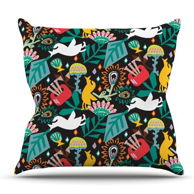 Folk Fusion by Agnes Schugardt Outdoor Throw Pillow