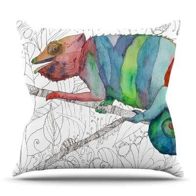 Chameleon Fail by Catherine Holcombe Outdoor Throw Pillow