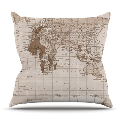 Emerald World by Catherine Holcombe Outdoor Throw Pillow