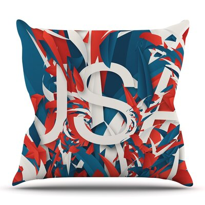 USA by Danny Ivan Outdoor Throw Pillow