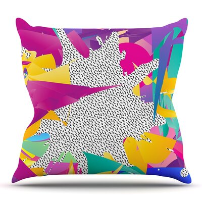 80s Abstract by Danny Ivan Outdoor Throw Pillow