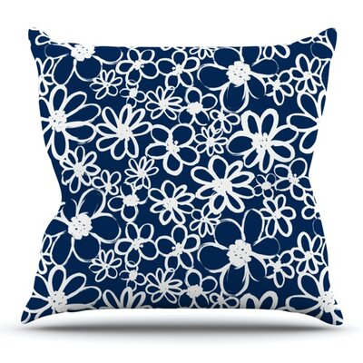 Daisy Lane by Emine Ortega Outdoor Throw Pillow
