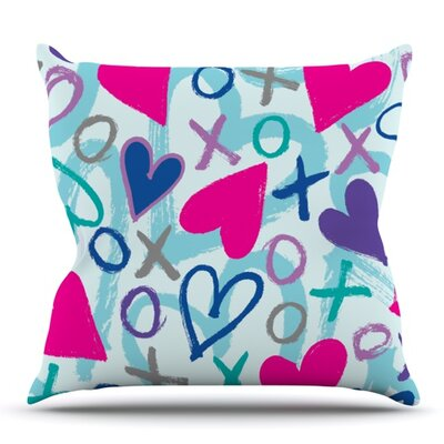 Hearts A Flutter by Emine Ortega Outdoor Throw Pillow