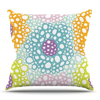 Bubbly by Emine Ortega Outdoor Throw Pillow