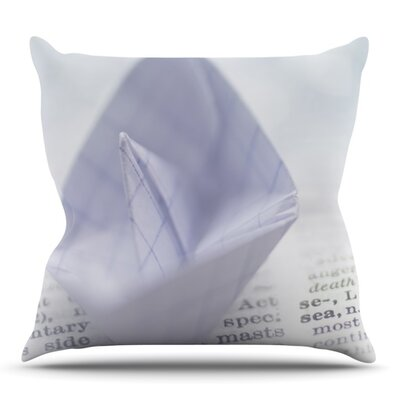 At Sea by Ingrid Beddoes Outdoor Throw Pillow