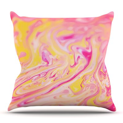 Bubble Gum by Ingrid Beddoes Outdoor Throw Pillow