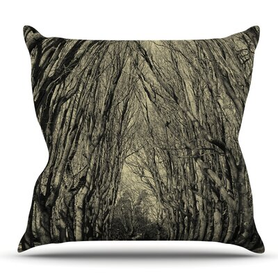 Where Trees Still Whisper by Ingrid Beddoes Outdoor Throw Pillow