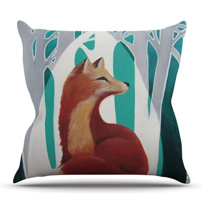 Fox Forest by Lydia Martin Outdoor Throw Pillow
