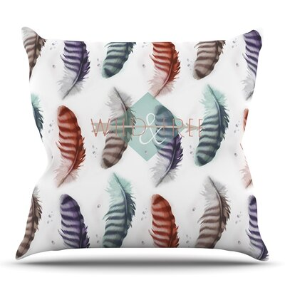 Wildfree by Lydia Martin Outdoor Throw Pillow
