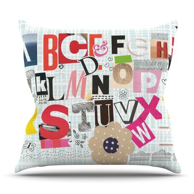 ABC by Louise Machado Outdoor Throw Pillow