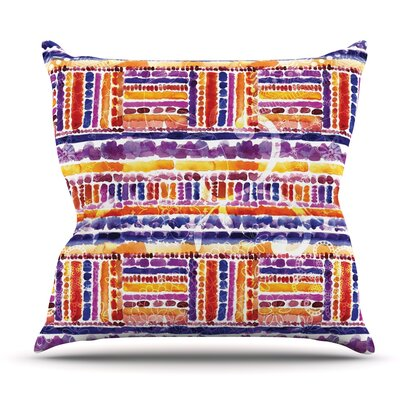 Tribal by Louise Machado Outdoor Throw Pillow