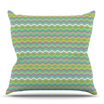 Chevron Love by Nicole Ketchum Outdoor Throw Pillow